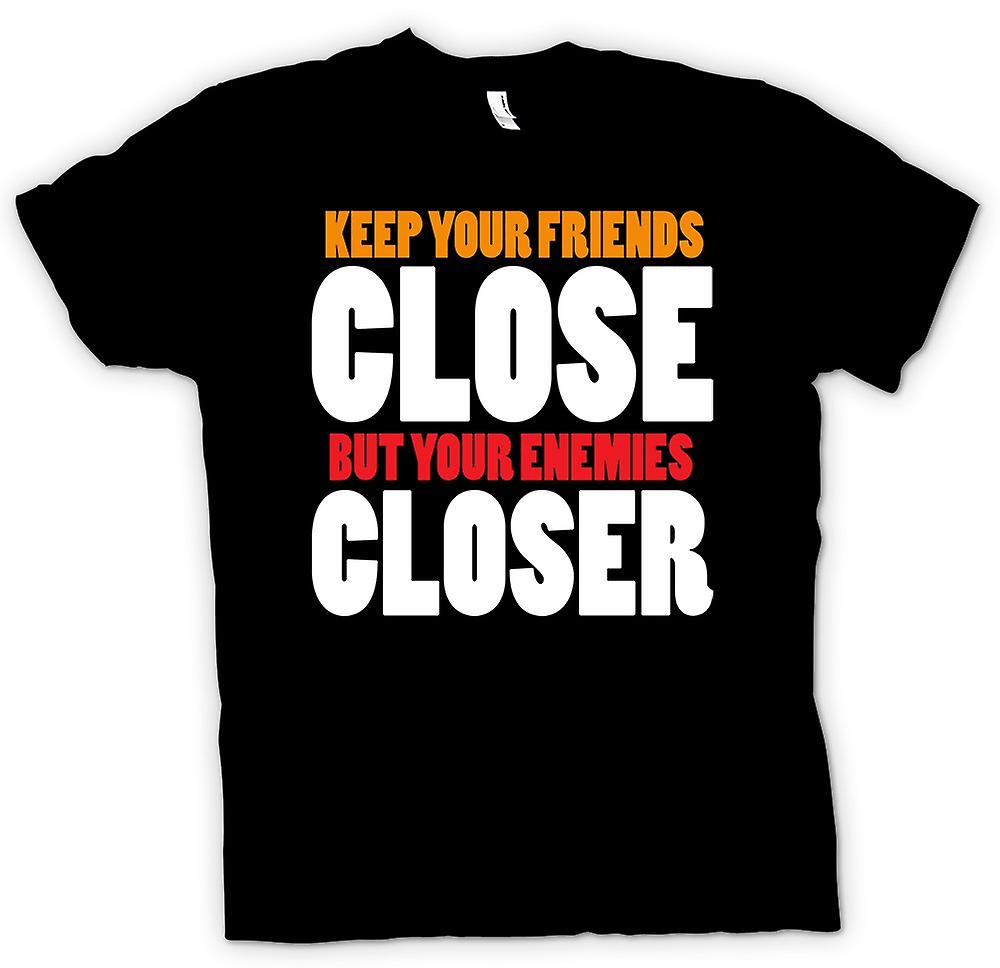 Mens T-shirt - Godfather - Keep Your Friends Close - Funny