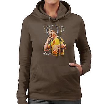 Sidney Maurer Original Portrait Of Bruce Lee Game Of Death Women's Hooded Sweatshirt