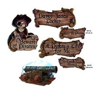 Piraten-Ausschnitte (4 Stück)