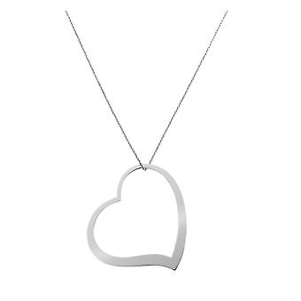 Orphelia Silver 925  Necklace Big Heart  ZK-7193