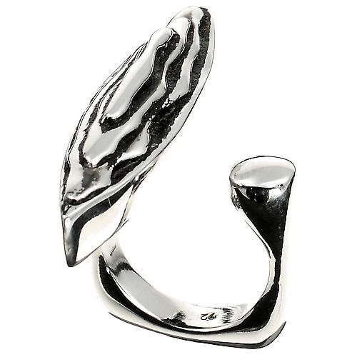 Striate Silver Ring Luxury