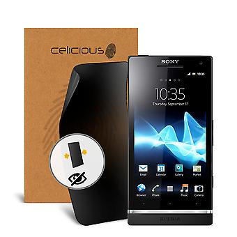 Celicious Privacy 2-Way Anti-Spy Filter Screen Protector Film Compatible with Sony Xperia S