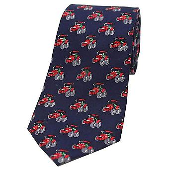 David Van Hagen Tractors Country Silk Tie - Navy