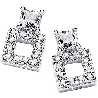 Cavendish French Square Up Stud Earrings - Silver