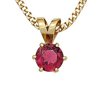 Pendants tourmaline pendant 585 Gold Yellow Gold 1 pink tourmaline