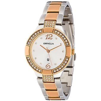 ORPHELIA Ladies Analogue Watch La belle  Silver/Rose Gold Stainless steel 153-3709-87