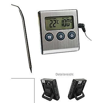 Termómetro digital de horno con sonda de calor resistente hasta 250 º C con alarma y temporizador función magnética y el interruptor de apagado y termómetro analógico