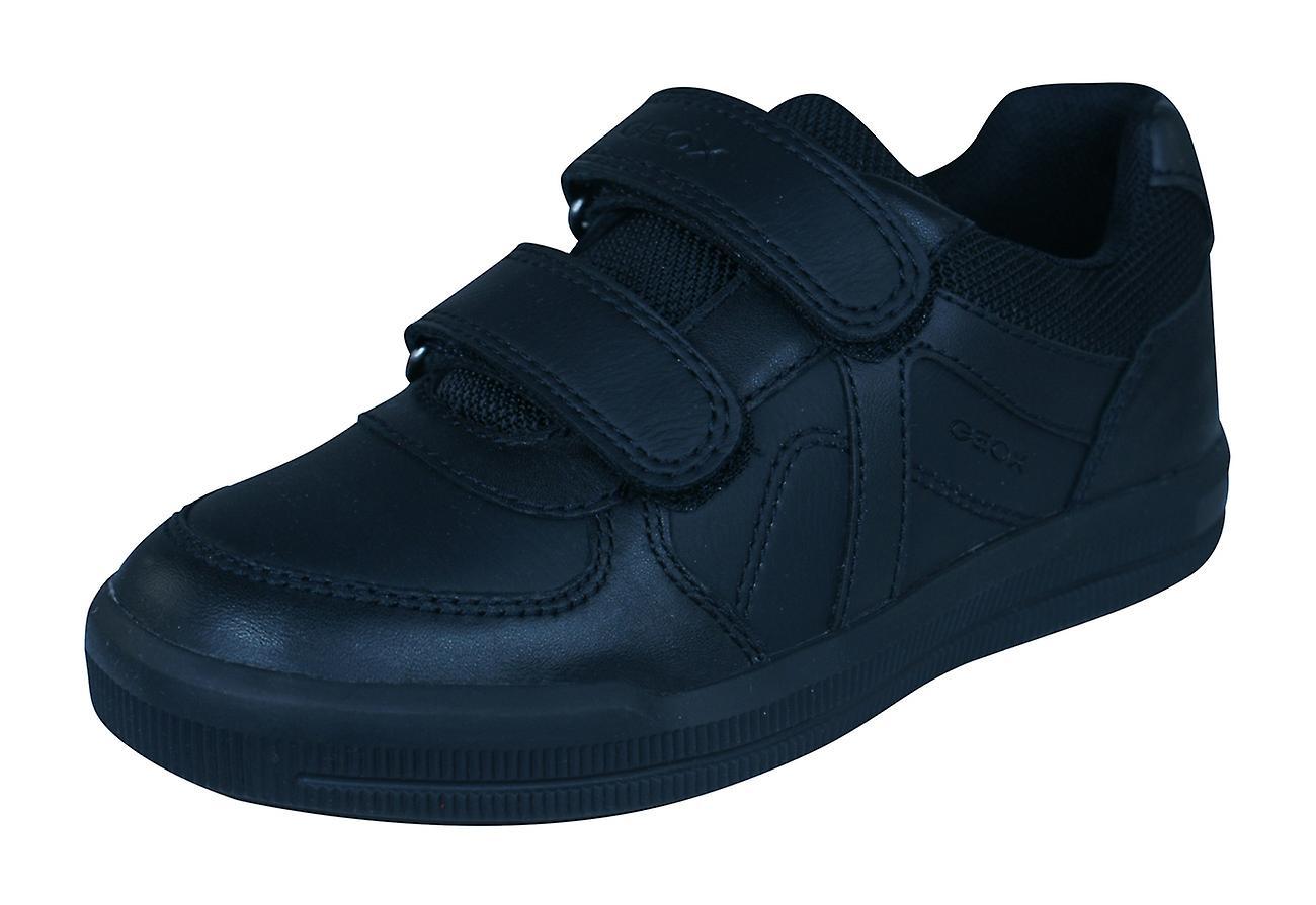 Geox J Arzach B E garçons cuir Trainers   School chaussures - noir
