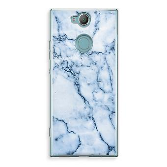 Sony Xperia XA2 Transparent Case - Blue marble