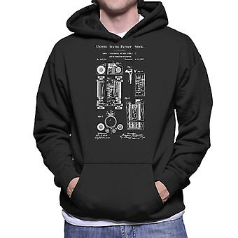 First Computer Patent Blueprint Men's Hooded Sweatshirt
