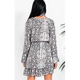 IKRUSH Womens Tyla Printed Smock Dress