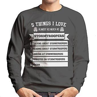 Original Stormtrooper 5 coisas que eu amo quase como camiseta muito homem