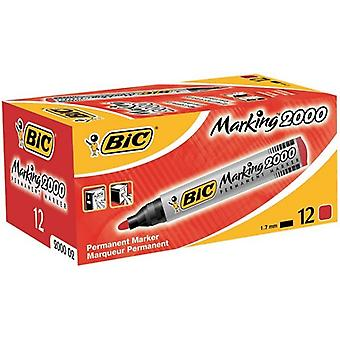Bic marker 2000 permanent rood ds/12