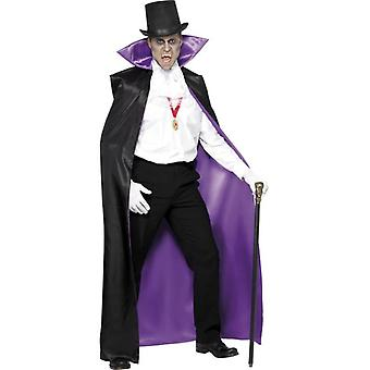 Smiffy's Count Reversible Cape Black And Purple