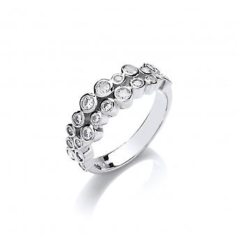 Cavendish French Slim CZ Bubbles Ring