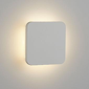 Searchlight Gypsum 4W LED Recessed White Plaster Wall Light