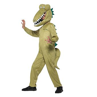 Roald Dahl Deluxe Enormous Crocodile Costume,Licensed Fancy Dress, Age 7-9