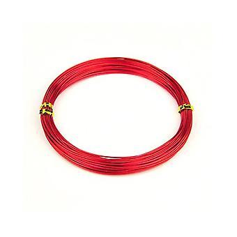 1 x rød forkromet Aluminium 0,8 mm x 10 m runde håndværk Wire spole HA16485