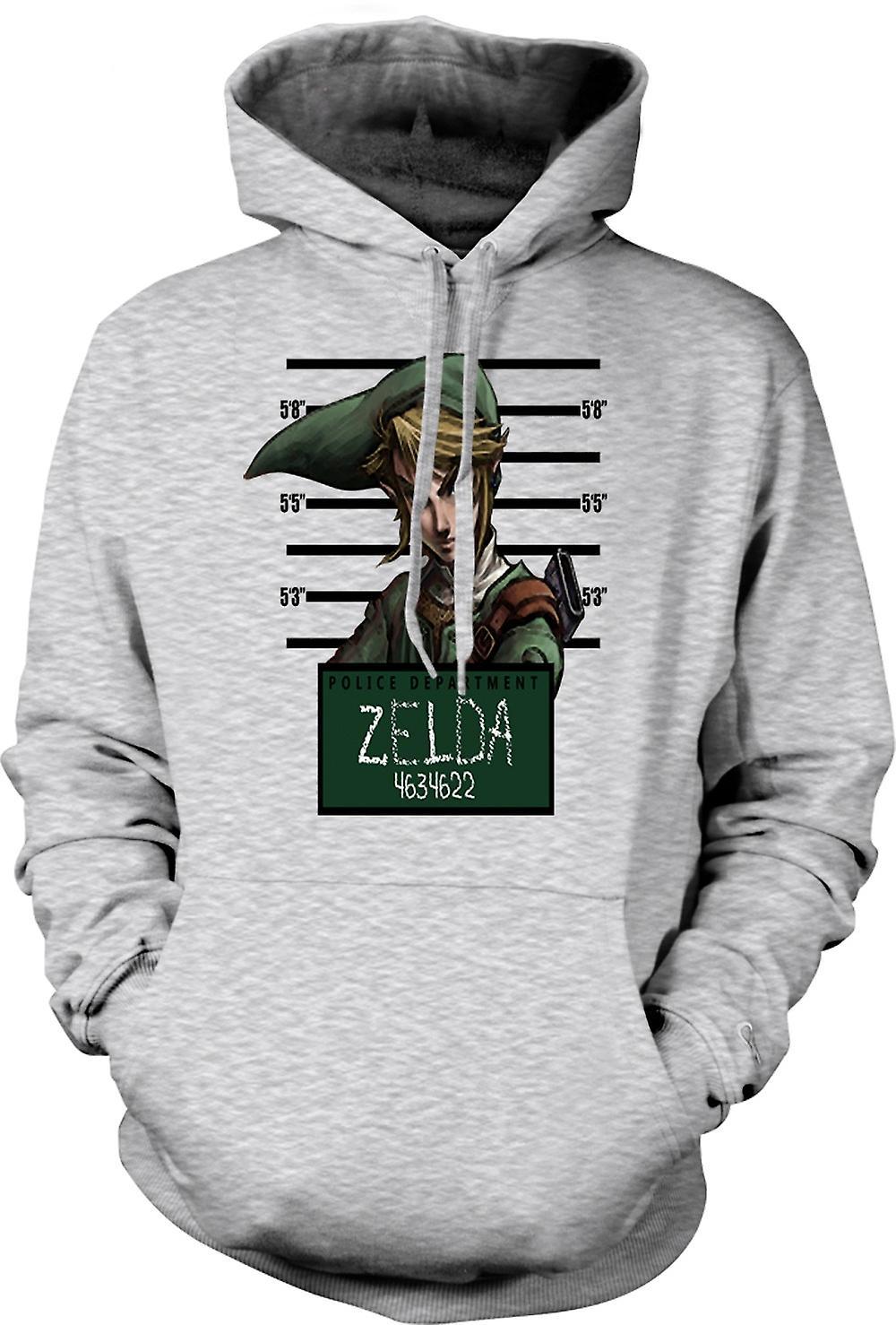 Mens Hoodie - Zelda - Mug Shot - Roligt