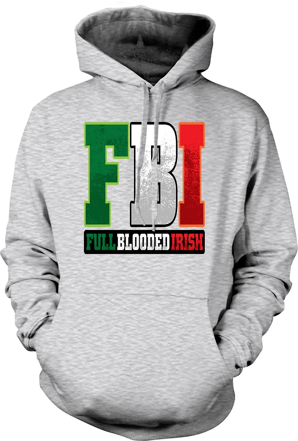 Mens Hoodie - St Patricks Day - FBI - Full blod irländska