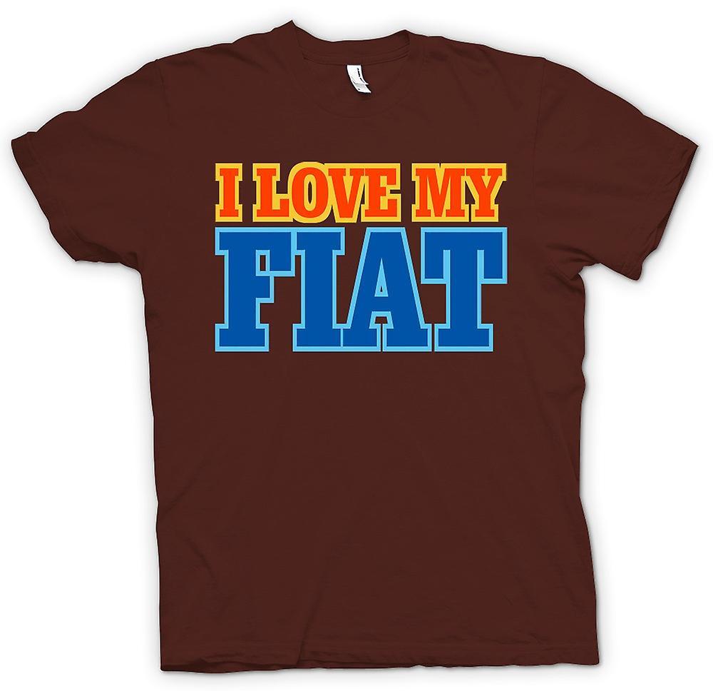 Mens T-Shirts - ich liebe mein Fiat - Auto-Enthusiasten
