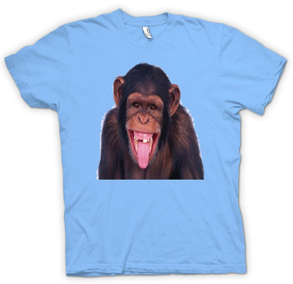 Mens t-shirt-Cheeky Chimp Funny Face