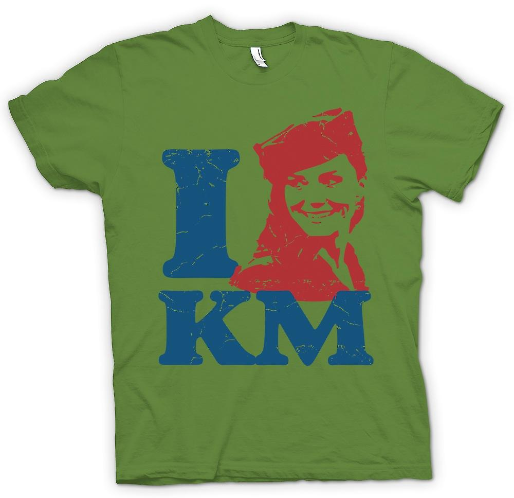 Mens T-shirt - I Love KM – Kate Middleton