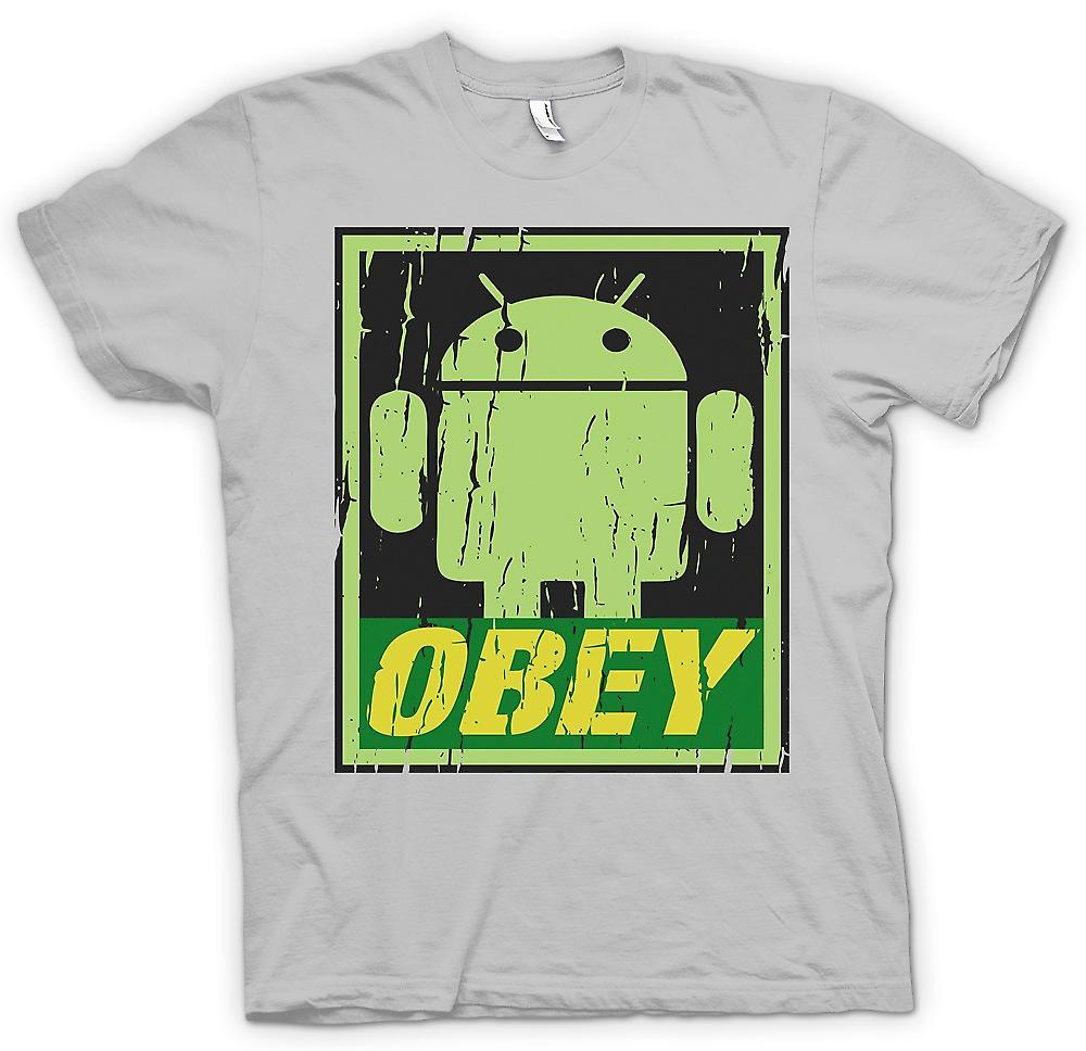 Mens T-shirt - Android Army - obéir - Funny Cool