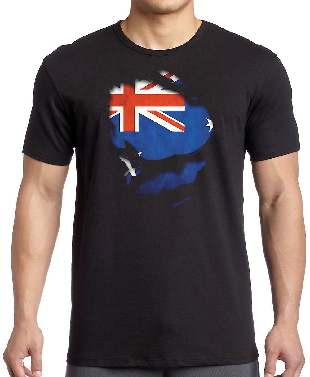 Australia Australia Ripped Effect Under Shirt T Shirt