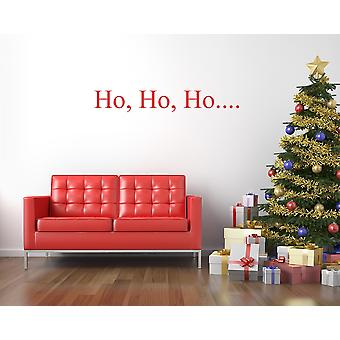 Ho Ho Ho Christmas Wall Sticker