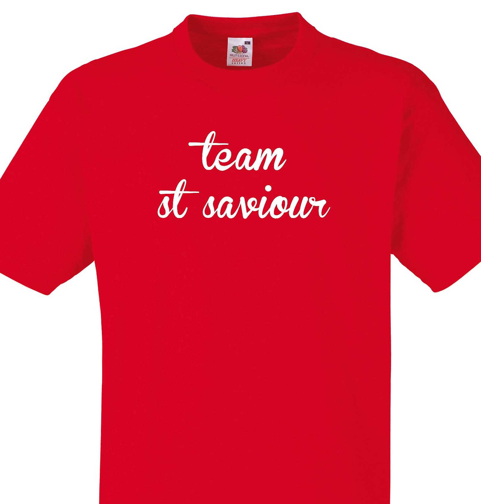 Team St saviour Red T shirt