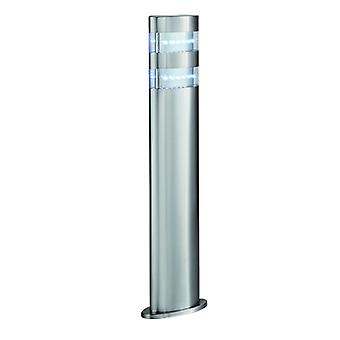 Satin Silver 24 Led Outdoor Bollard Light