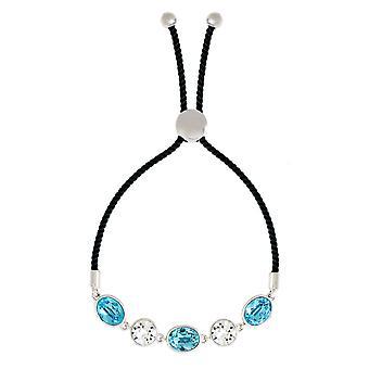 Bertha Jemma Collection Women's 18k WG Plated Bolo Rope Fashion Bracelet
