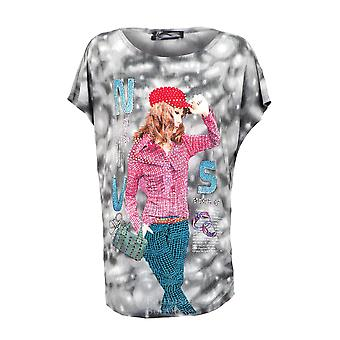Ladies Rhinestone Tye Die Party Fashion Girl Baggy Women's Top One Size