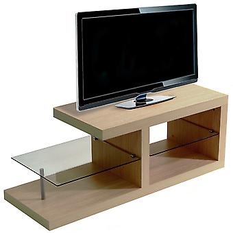 Halo - Chunky Tv Stand / Entertainment Unit / Coffee Table - Oak