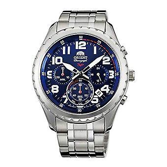 Orient Chronograph quartz men's Watch with stainless steel band FKV01002D0