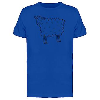 Sheep With Fluffy Body Tee Men's -Image by Shutterstock