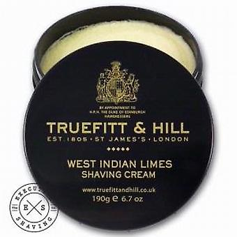 Crème à raser West Indian Limes Truefitt et colline 190g