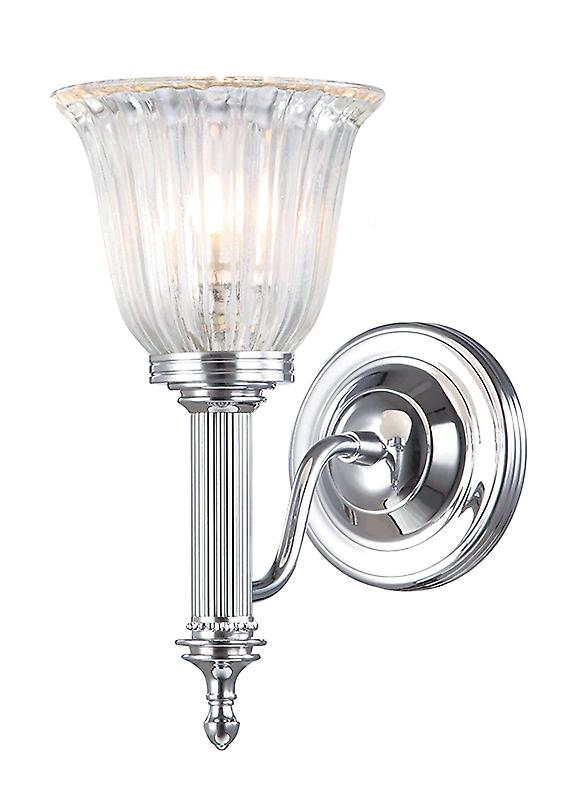 Elstead BATH/CARROLL1 PC Carroll Modern Polished Chrome Bathroom Wall Light