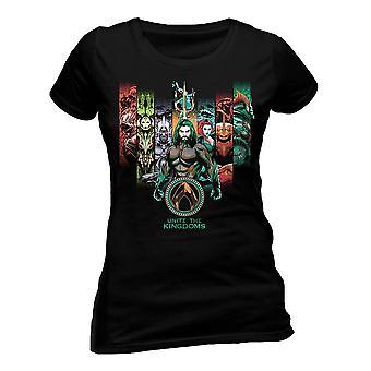 Women's Aquaman Movie Unite The Kingdoms Fitted T-Shirt