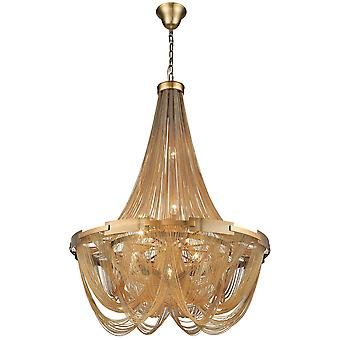 Spring Lighting - Southampton Large Brass Ten Light Chandelier  OPUU080CSB10TUBU