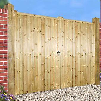 Drayton Double Wooden Garden Gate - Square Top