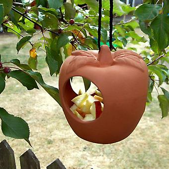 Terracotta Apple Bird Feeder