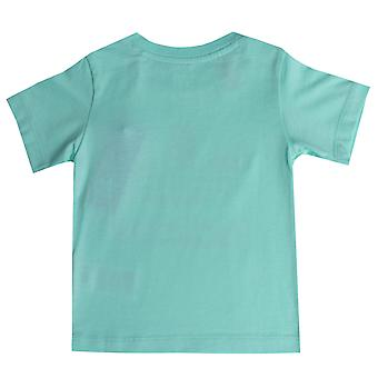 Infant Girls adidas Originals Trefoil T-Shirt In Mint- Short Sleeve- Ribbed
