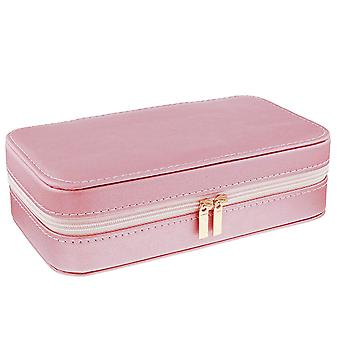 Mele - Lynne Rose Gold PU Jewellery Box With Mirror & Compartments 5218