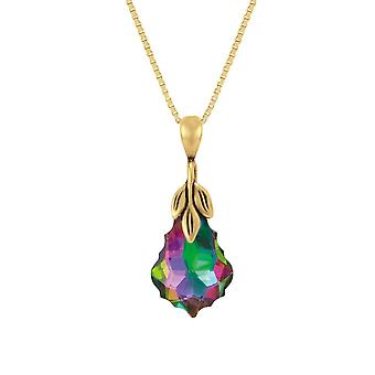 Eternal Collection Baroque Electra Crystal 14ct Gold Vermeil Pendant Necklace
