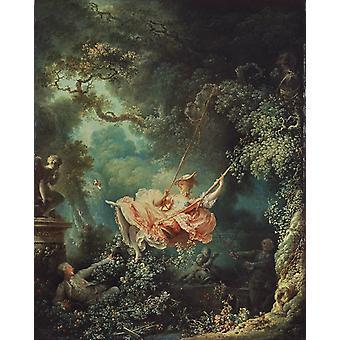 The Swing, Jean Honore Fragonard, 50x40cm