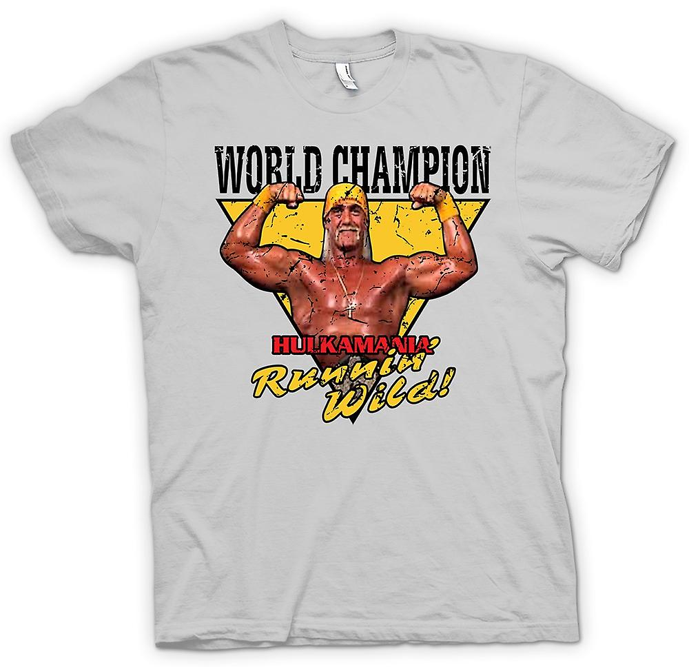 Mens T-shirt - World Champion - Hulk Mania Running Wild