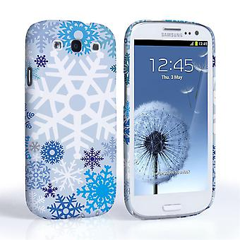 Caseflex Samsung Galaxy S3 Winter Christmas Snowflake Cover – Blue