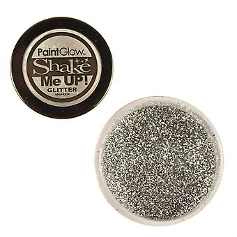 PaintGlow Glitter Shaker Colour Silver & Fixative Gel